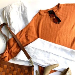 Icone linen beach pants and ribbed sweater set